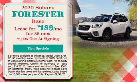 New 2020 Subaru Forester Base