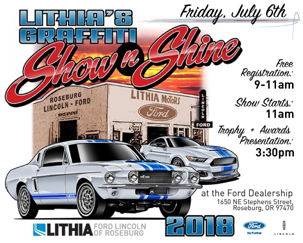 show and shine 2018 lithia ford lincoln of roseburg. Black Bedroom Furniture Sets. Home Design Ideas