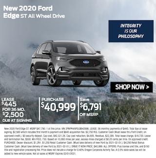 New 2020 Ford Edge ST