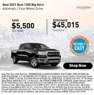 New 2021 Ram 1500 Big Horn - LT