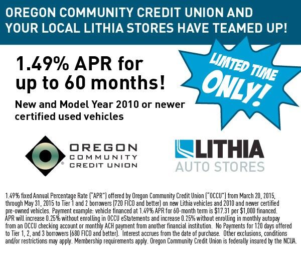 Jeep Credit Union >> Oregon Community Credit Union Lithia Chrysler Jeep Dodge Of Grants