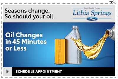 Oil Change in 45 Minutes of Less