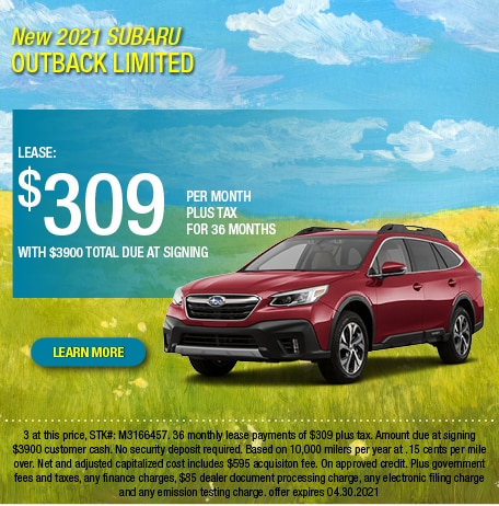 2021 Subaru Outback Limited Lease Offer