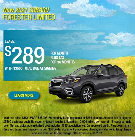 2021 Subaru Forester Limited Lease Offer