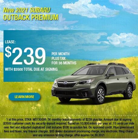 2021 Subaru Outback Premium Lease Offer
