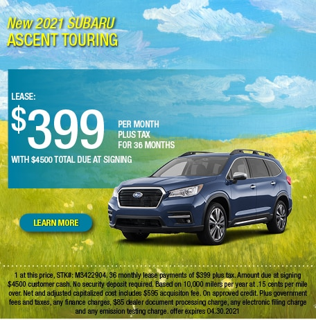 2021 Subaru Ascent Touring Lease Offer