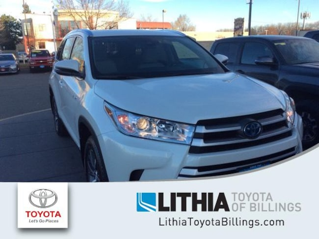 New 2019 Toyota Highlander Hybrid Suv Xle V6 Blizzard Pearl For Sale