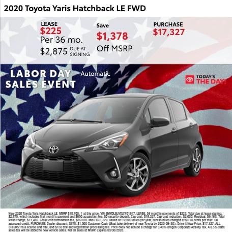 2020 Toyota Yaris Hatchback LE FWD