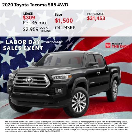 2020 Toyota Tacoma SR5 AWD
