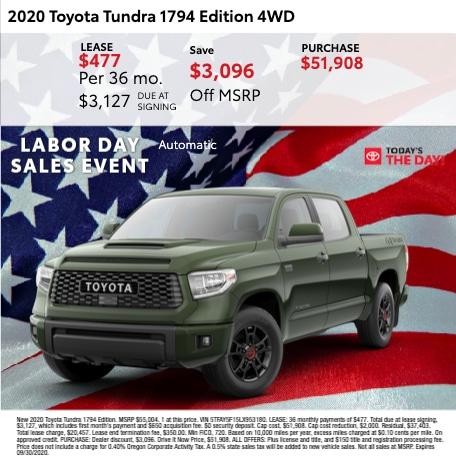 2020 Toyota Tundra 1794 Edition 4WD
