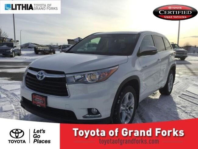 Used 2015 Toyota Highlander Hybrid AWD 4dr Limited SUV Grand Forks, ND