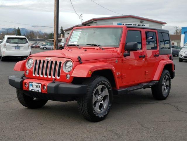 Used 2017 Jeep Wrangler JK Unlimited Sahara 4x4 SUV Medford, OR