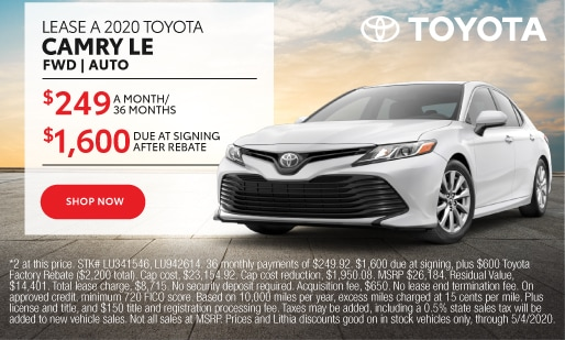 2020 Camry Lease $249