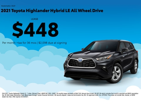 2021 Toyota Highlander Hybrid LE All Wheel Drive