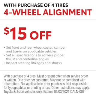 4-Wheel Alignment with Purchase of 4 Tires