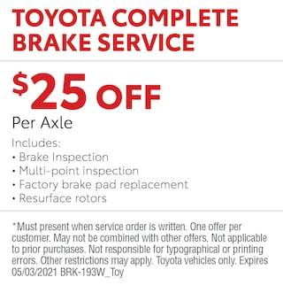 Toyota Complete Brake Service