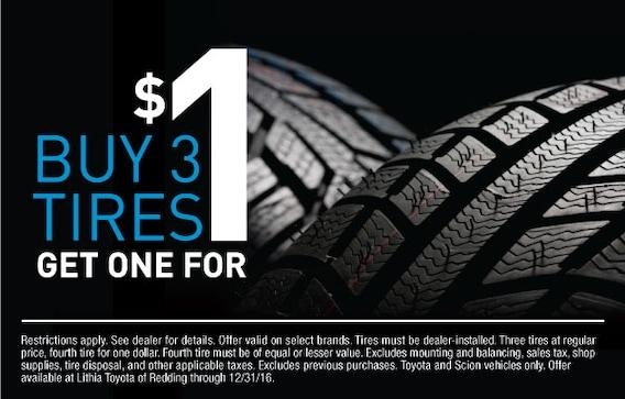 Buy Tires Online >> New Toyota Tires In Redding Ca Buy Tires Online At Lithia