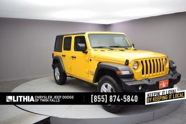 New 2019 Jeep Wrangler UNLIMITED SPORT S 4X4 Sport Utility Twin Falls, ID