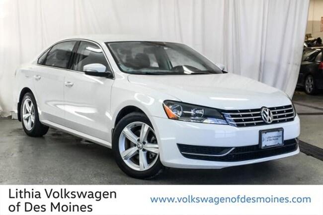 Certified Pre-Owned 2015 Volkswagen Passat 2.0L TDI SE Sedan Johnston, IA