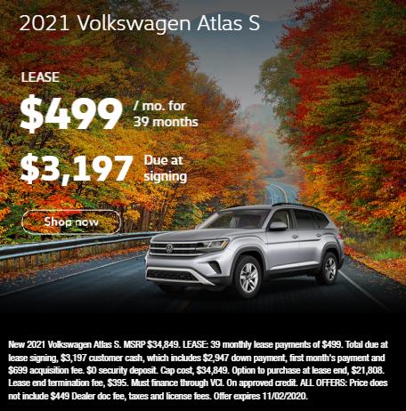 2021 Volkswagen Atlas S