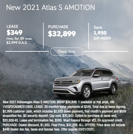 New 2021 Atlas S 4MOTION