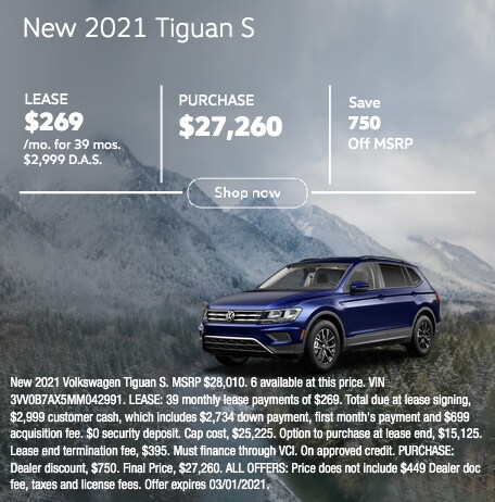 New 2021 Tiguan S