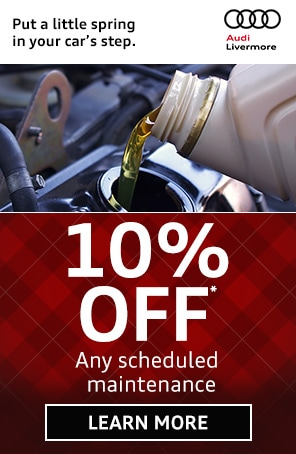 Scheduled Audi Maintenance Coupon in Livermore CA