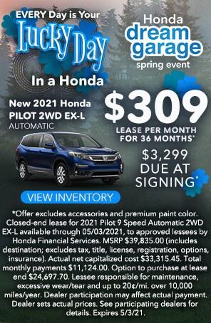 New 2021 Honda Pilot Automatic 2WD EX-L