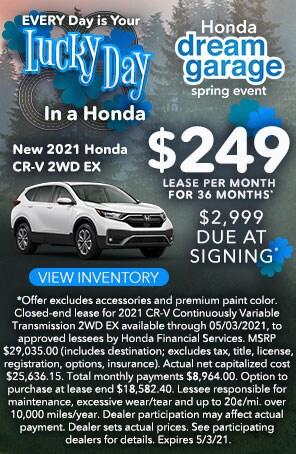 New 2021 Honda CR-V 2WD EX