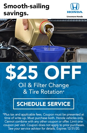 Oil & Filter Change & Tire Rotation in Livermore CA