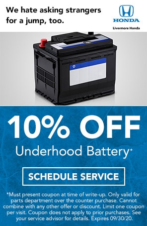 Under Hood Battery Special in Livermore CA