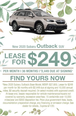New 2020 Subaru Outback SUV