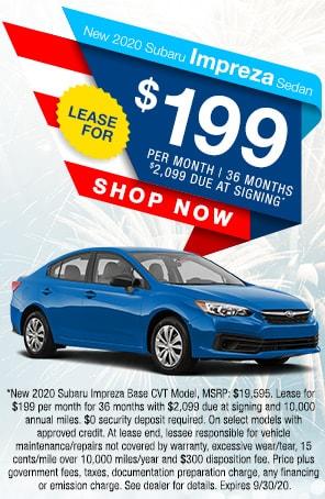 New 2020 Subaru Impreza Sedan