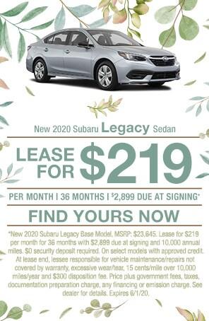 New 2020 Subaru Legacy Sedan