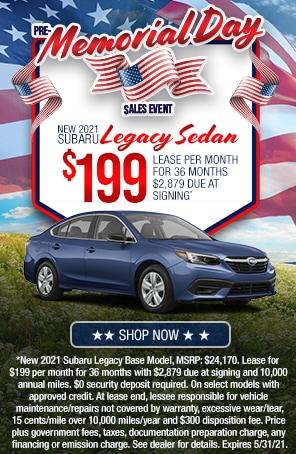 New 2021 Subaru Legacy Sedan