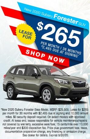 New 2020 Subaru Forester SUV