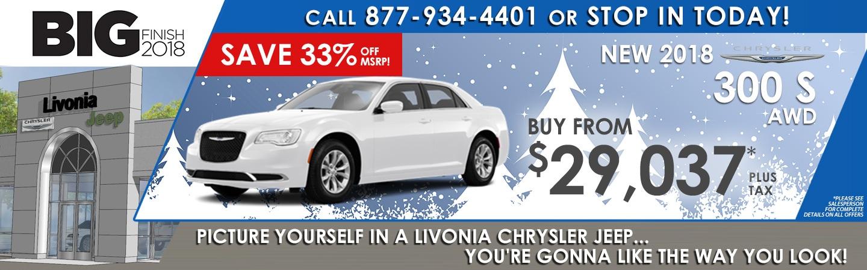 New Chrysler 300 Cars In Livonia Mi Livonia Chrysler Jeep Serving