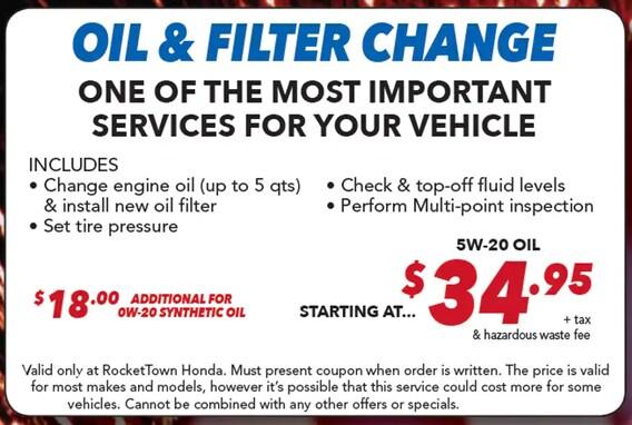 Best Oil Change >> Get An Oil Change Near Santa Maria Ca Honda Service Repairs