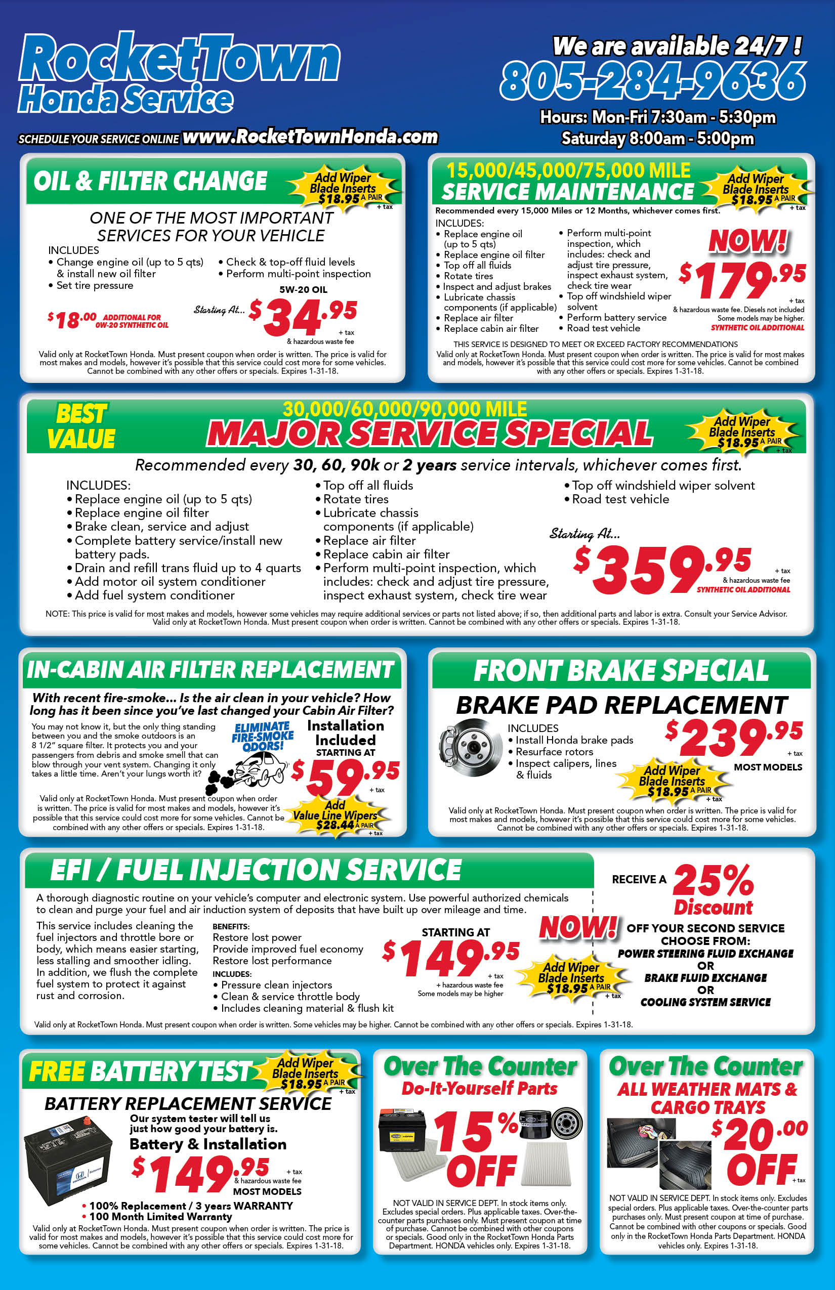 specials fluids chemicals coupons htm off honda team service on schedule