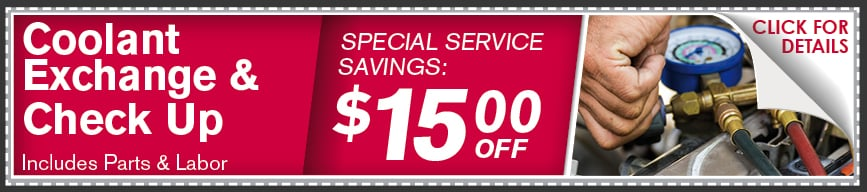 Coolant Flush & Check Up Coupon, McKinney