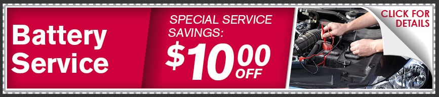 Battery Service Coupon, McKinney
