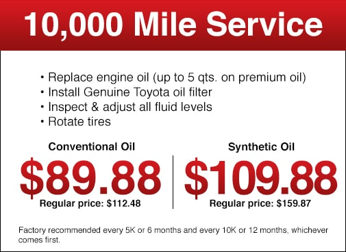 Toyota Oil Change Coupon >> Toyota Service Specials Toyota Service Deals At Longo Toyota