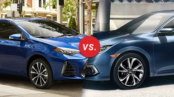 Comparison: 2019 Toyota Corolla vs 2019 Honda Civic
