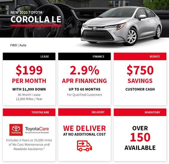 Toyota Financing Deals >> New Toyota Specials Longo Toyota