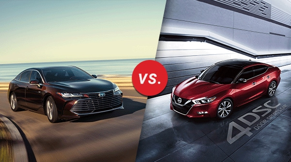 Comparison 2019 Toyota Avalon Vs 2019 Nissan Maxima Longo