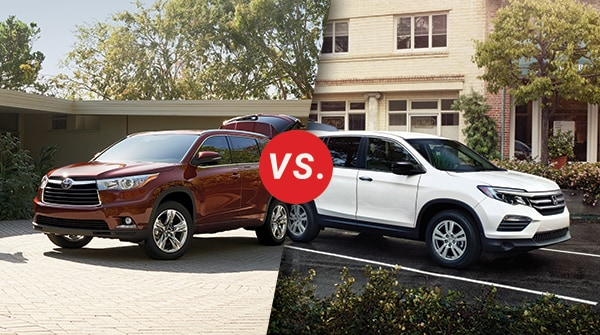 Comparison  Toyota Highlander Vs  Honda Pilot