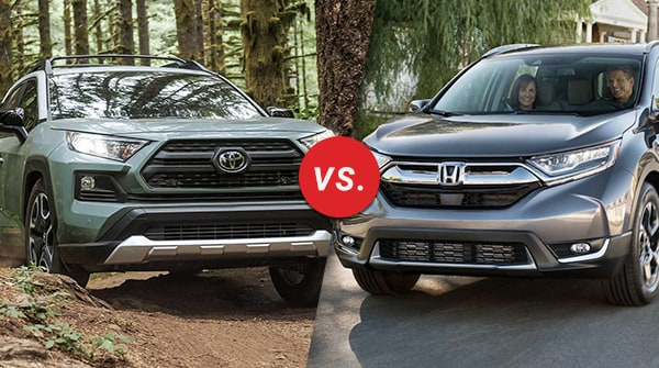 Comparison: 2019 Toyota RAV4 vs 2019 Honda CR-V