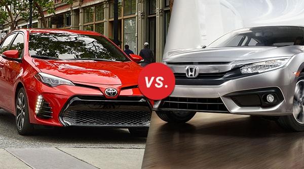 Civic Vs Corolla >> Comparison 2019 Toyota Corolla Vs 2019 Honda Civic Longo