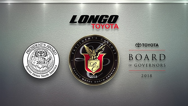 Longo Clean Sweeps 2018 Toyota Manufacturer Awards