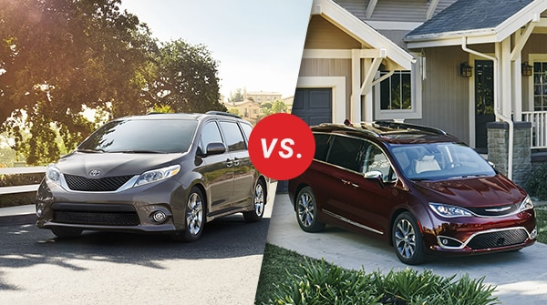 Comparison: 2017 Toyota Sienna vs 2017 Chrysler Pacifica